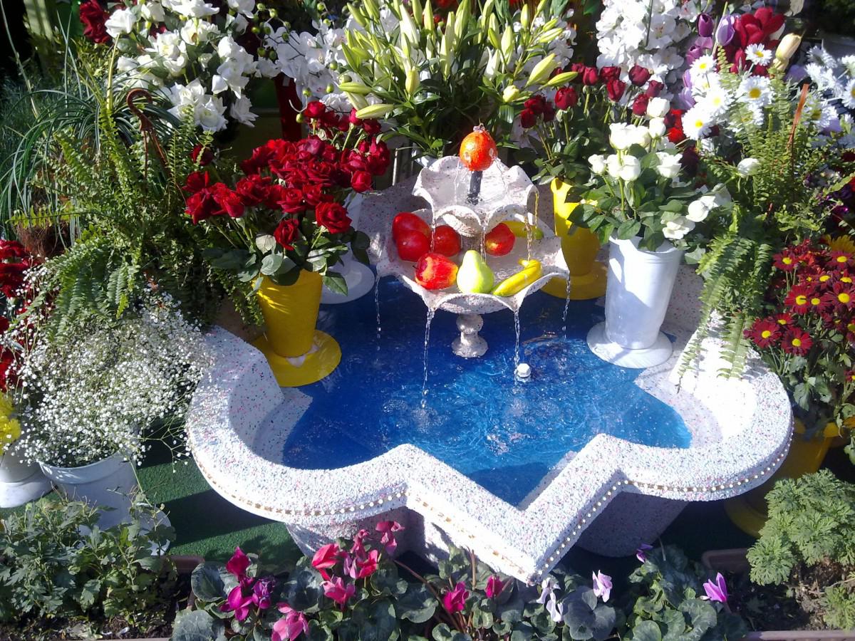 Idée de déco de fontaine de jardin