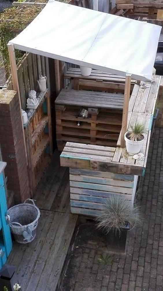 Barre de palette de jardin
