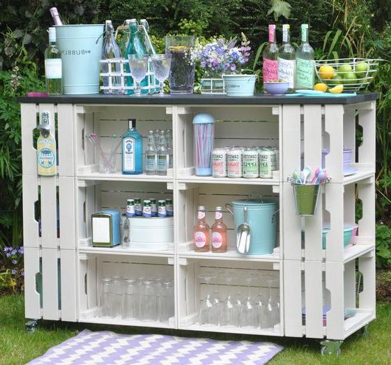 Meuble de palette, vous pouvez faire une armoire de jardin