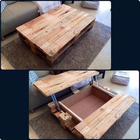 Meuble de palette - une idée créative pour une table