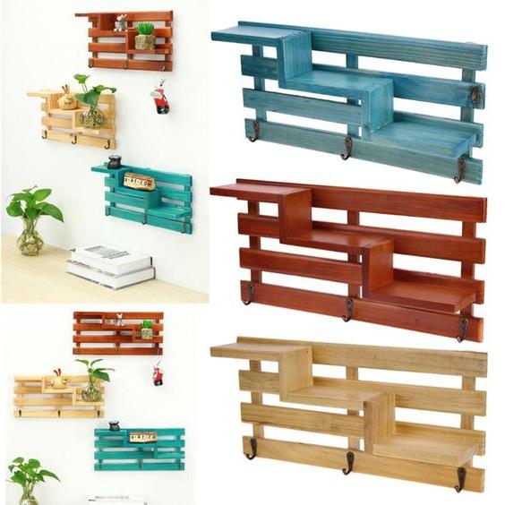 Meuble de palette - une idée créative pour une étagère colorée
