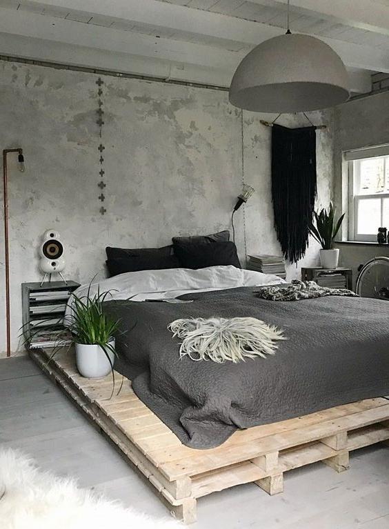 Meuble de palette - idée d'une palette lit en bois en blanc