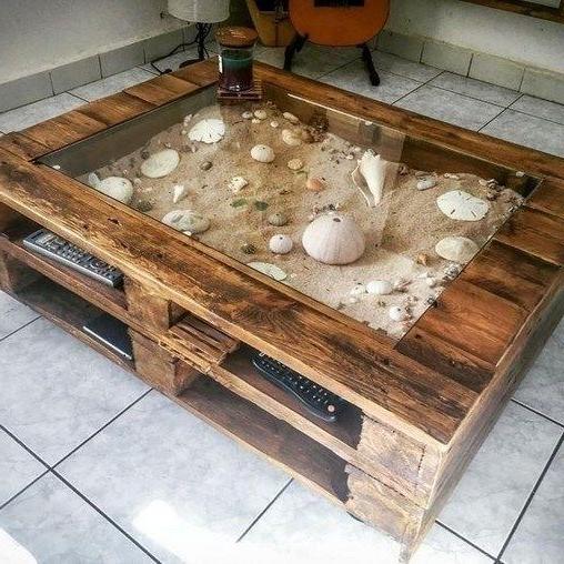 Meublr de palette - une idée pour une table de style de la mer