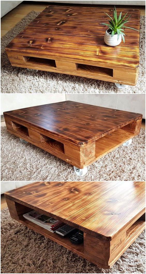 Meubles de palette, vous pouvez faire une petite table