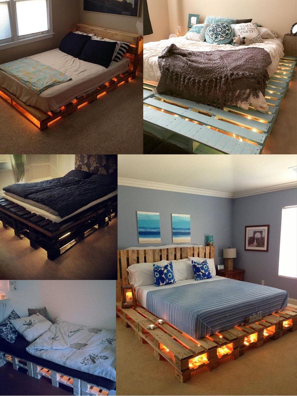 Meuble de palette - quatre idées pour un lit de palettes