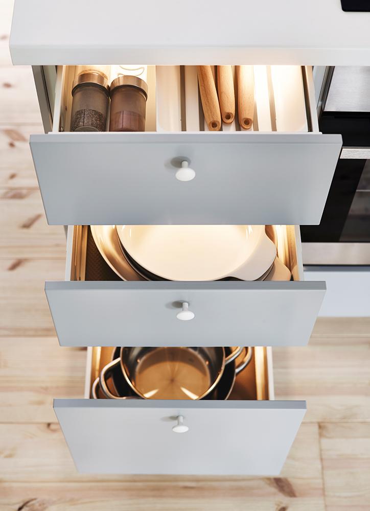 Ajouter des tiroirs supplémentaires dans la cuisine