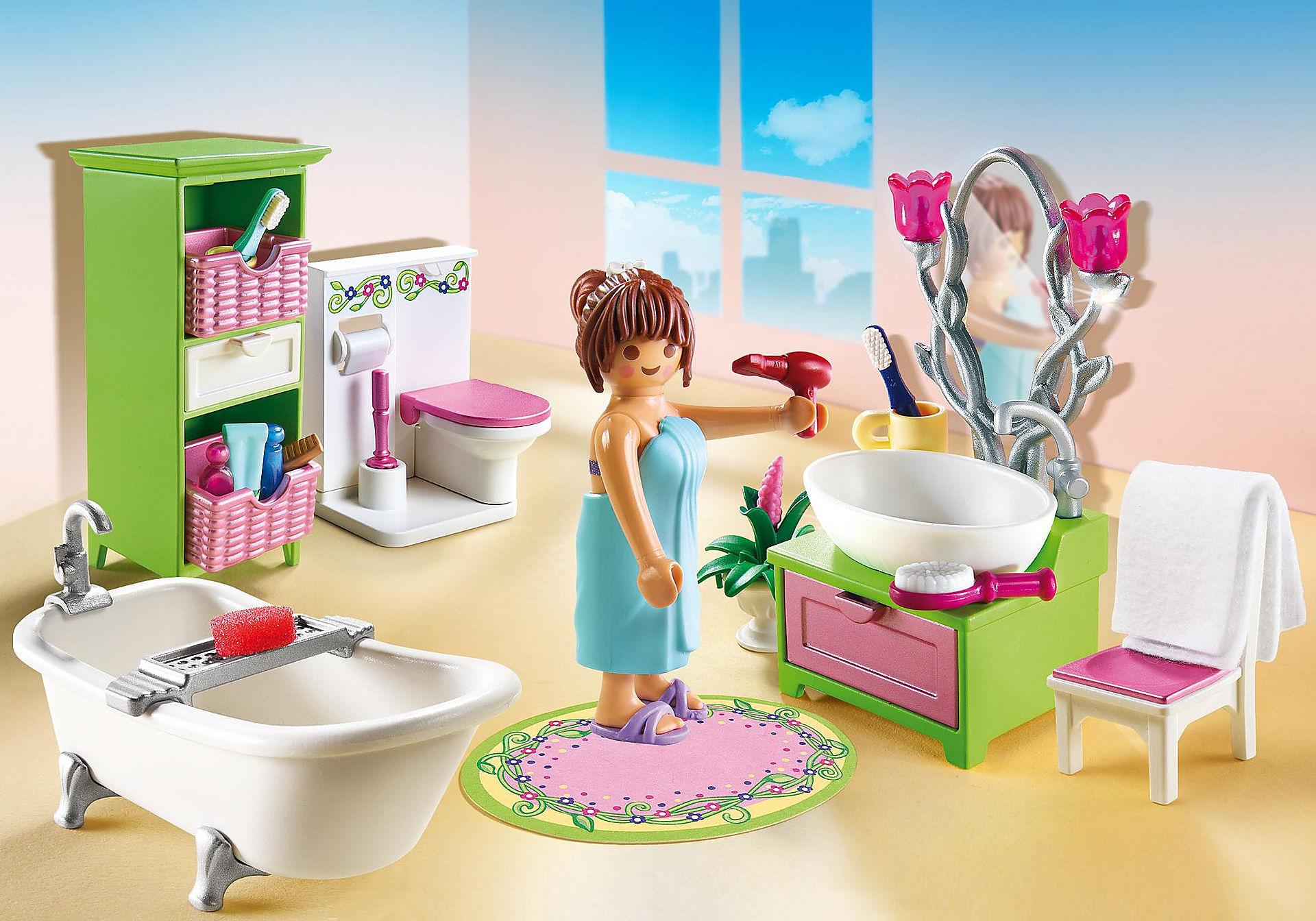 Salle de bain Playmobil- commencez une bonne journée