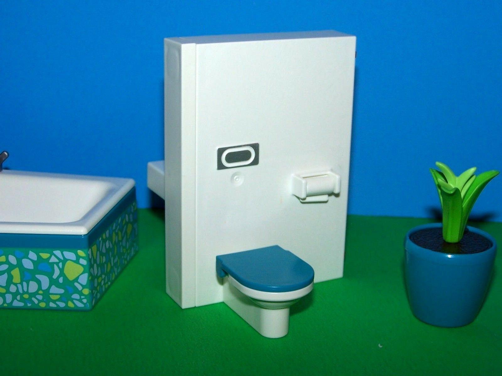 Les toilettes de la salle de bain Playmobil 5577
