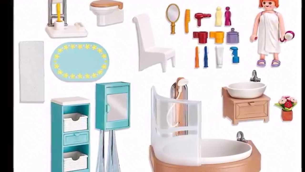 Ce sont les accessoires pour la salle de bain Playmobil 5330