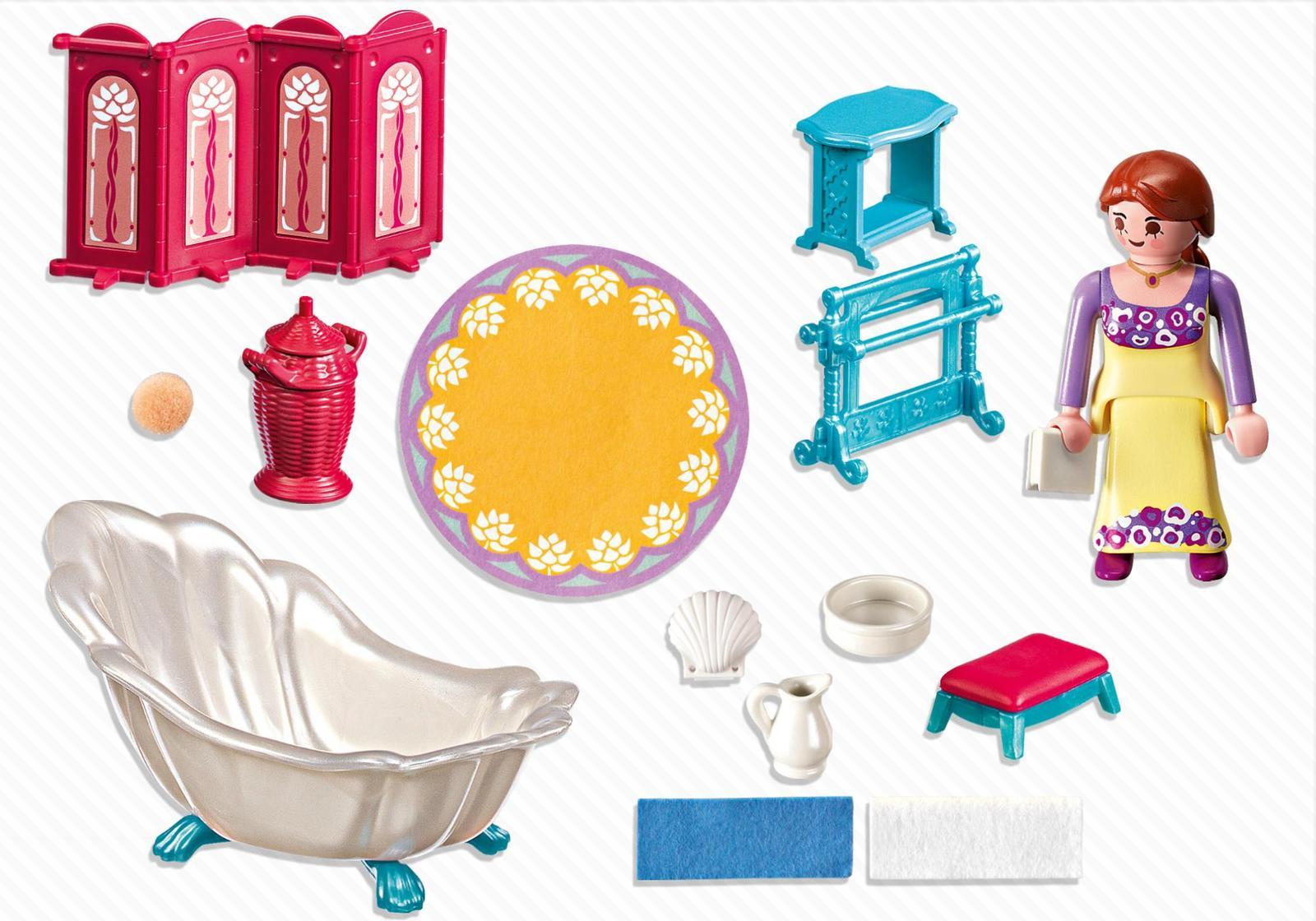 La salle de bain royale Playmobil a des accessoires très intéressants