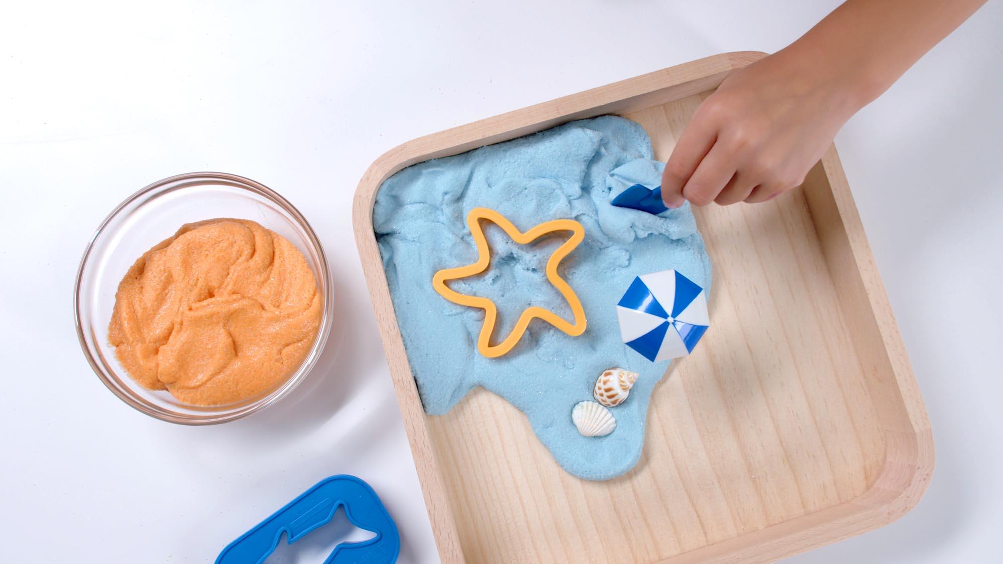 Vous pouvez faire différentes formes avec le sable magique