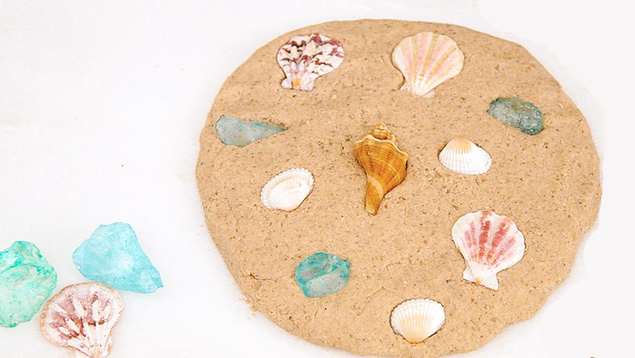 Les moules sont toujours belles dans le sable