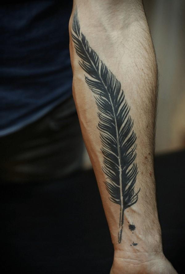 Vaillance, honneur et justice: généralement liés à des représentations de plumes d'aigle.