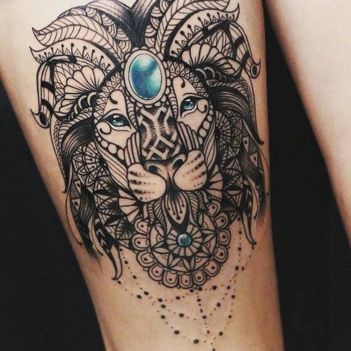 Les tatouages d'animaux associent le sens des mandalas avec des animaux totems; animaux qui reflètent la personnalité d'une personne et qui en sont les guides spirituels.