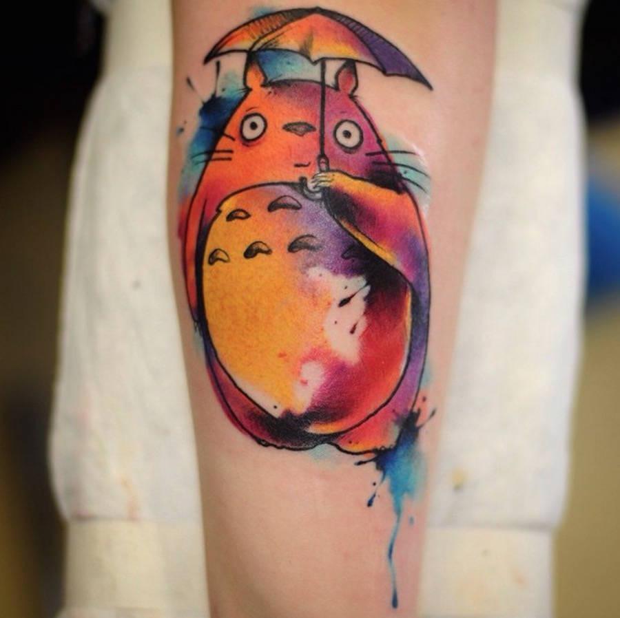 Le style aquarelle est le meilleux choix pour un tattoo original