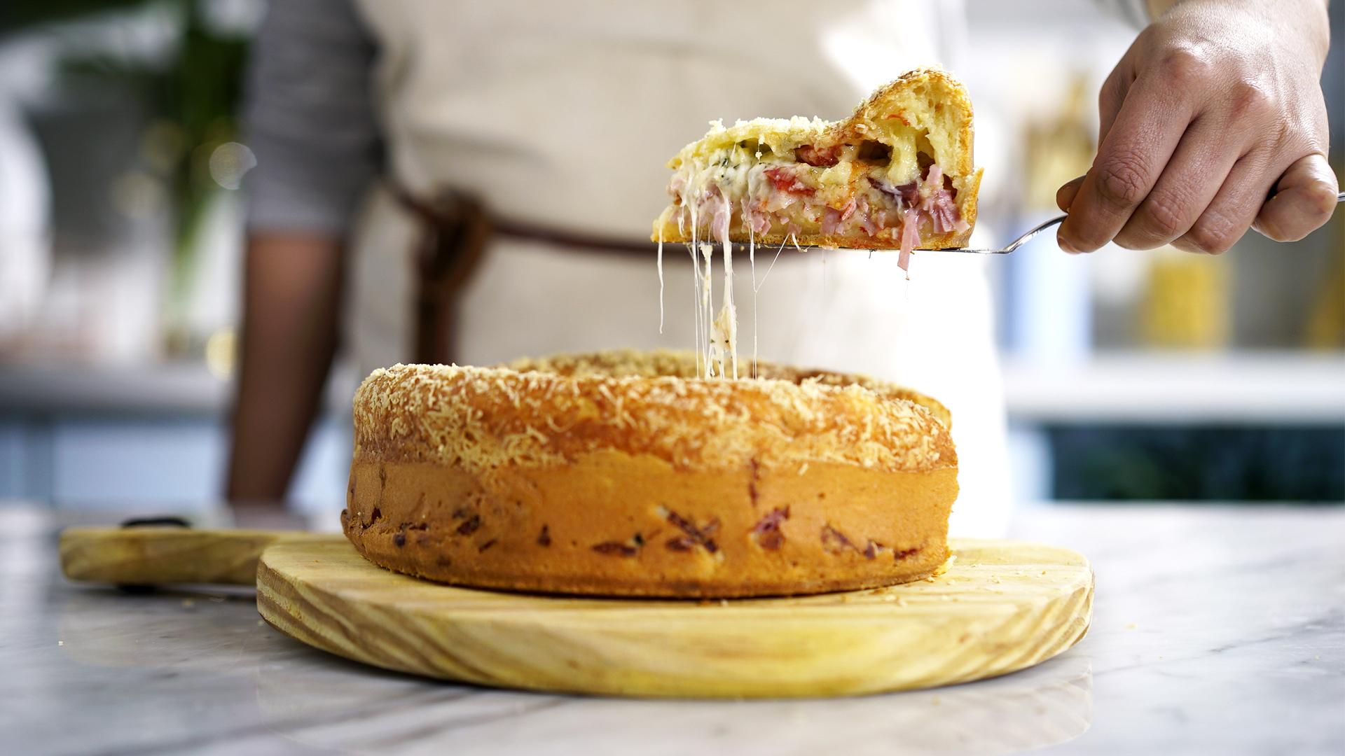 Gâteau salé aux courgettes - une recette super facile et rapide à faire