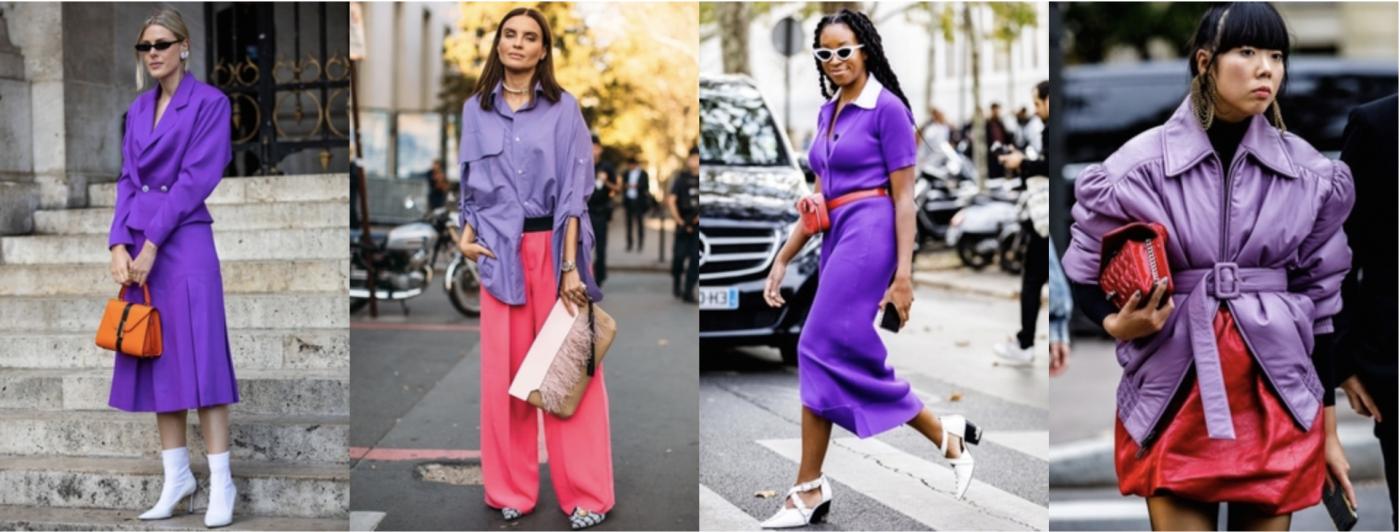 La couleur lilas peut aussi être très élégante.