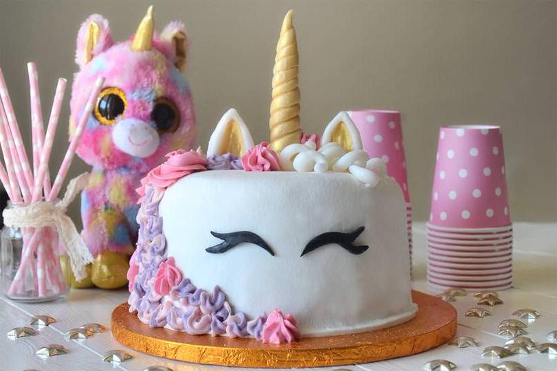 Un gâteau rapide et décoré façon licorne