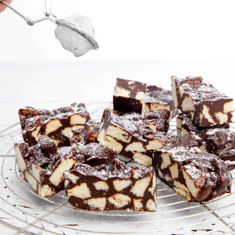 Tranche de chocolat croquant
