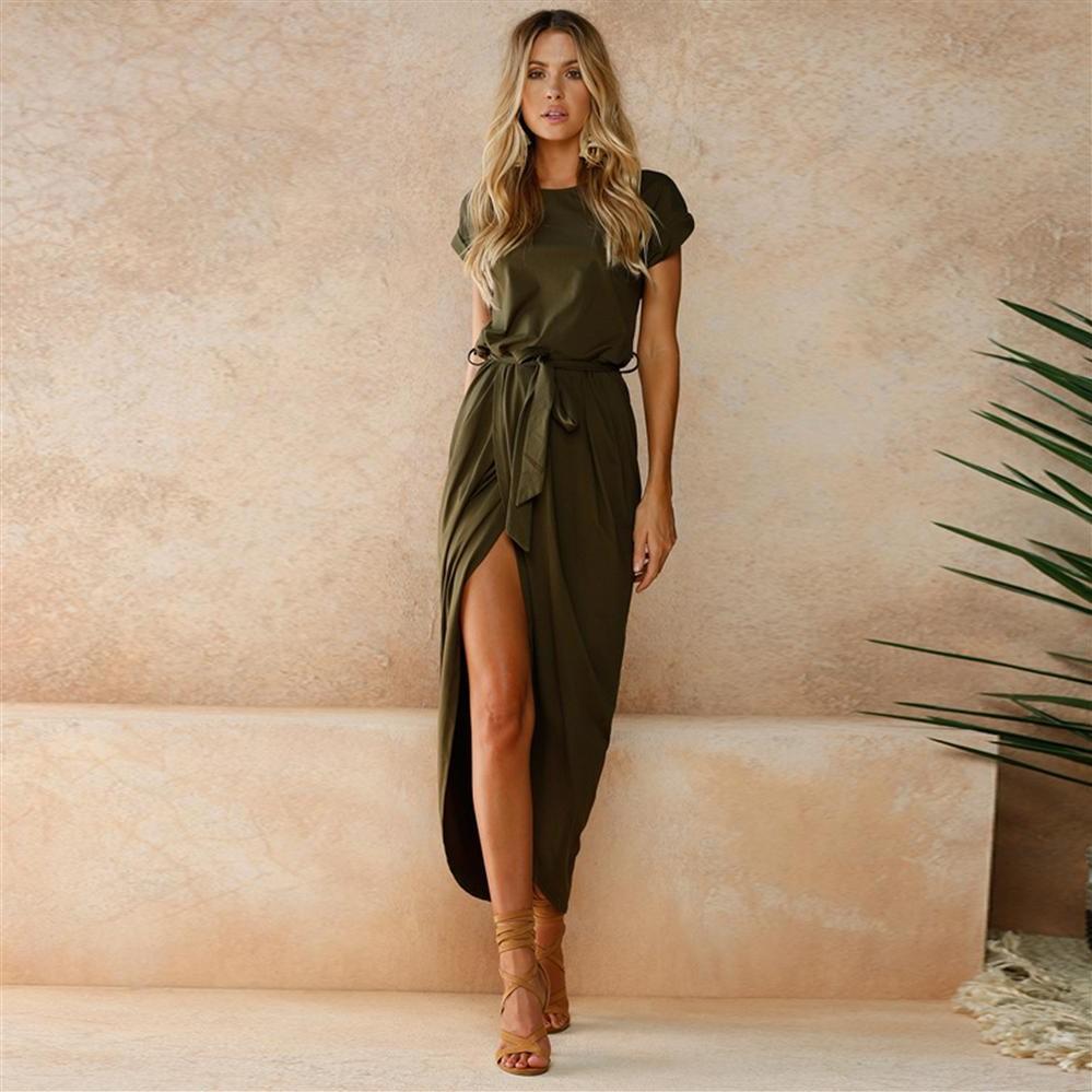 La robe longue bohème ne limite pas vos mouvements et est confortable en toute occasion.