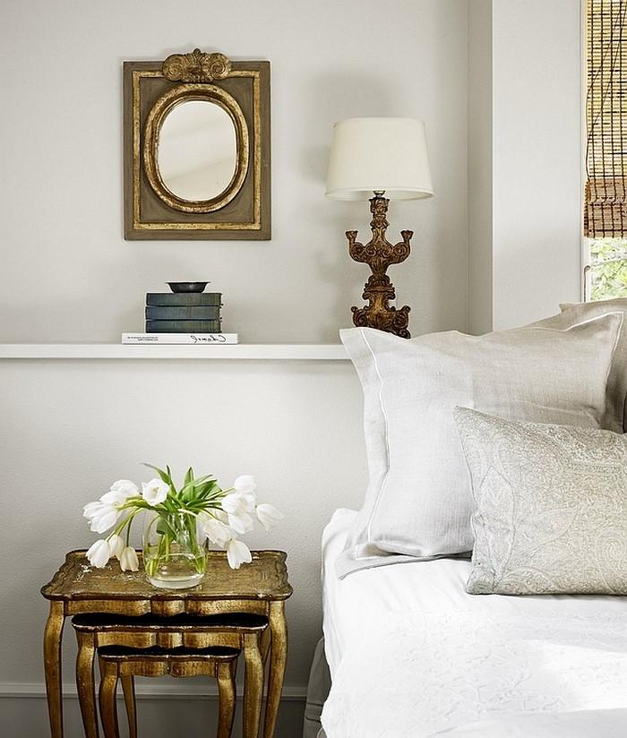 Voyez à quel point cette chambre à coucher est élégante!
