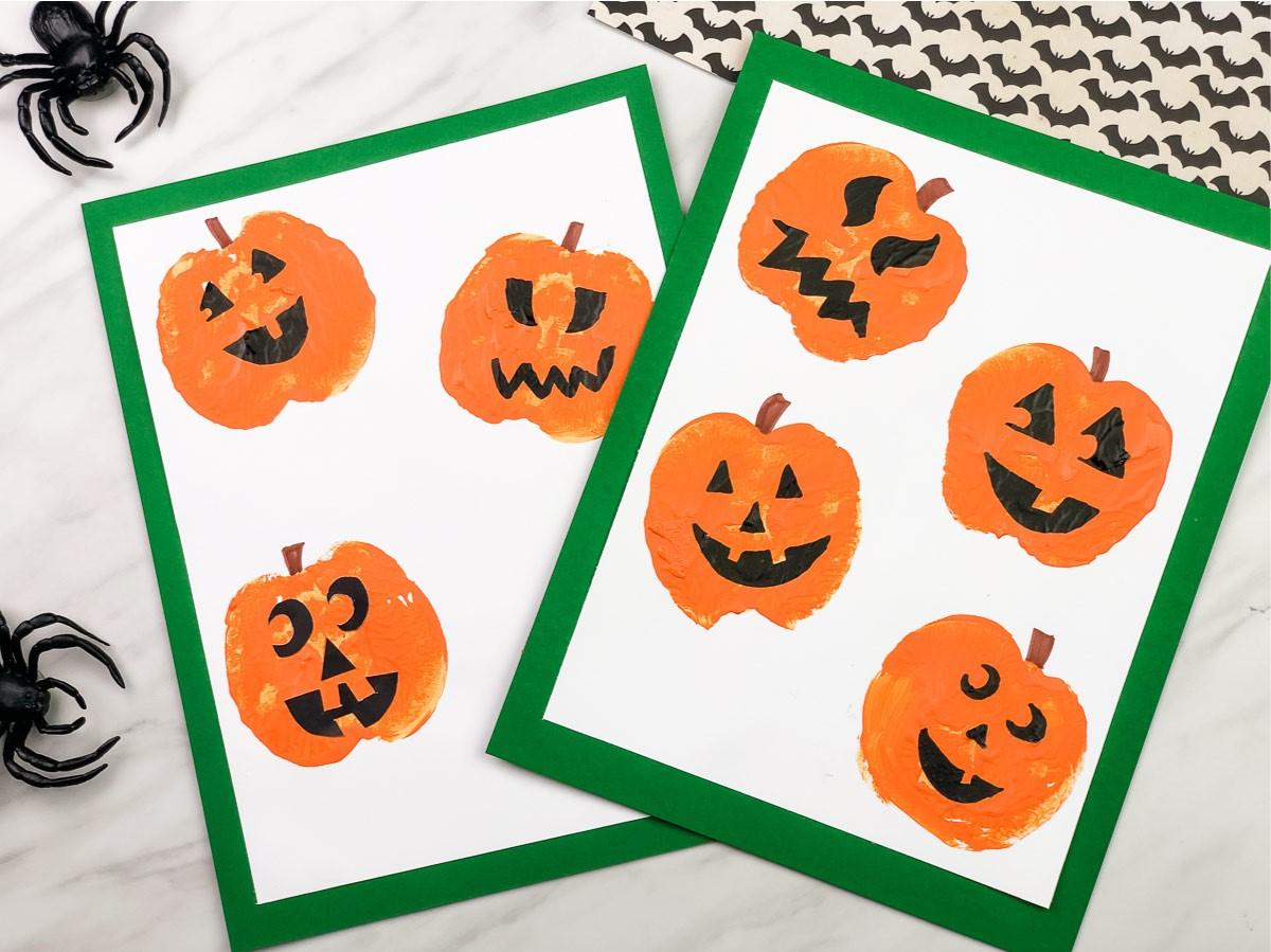 Un bricolage d'Halloween pour les enfants de la maternelle très facile et amusant pour Halloween.