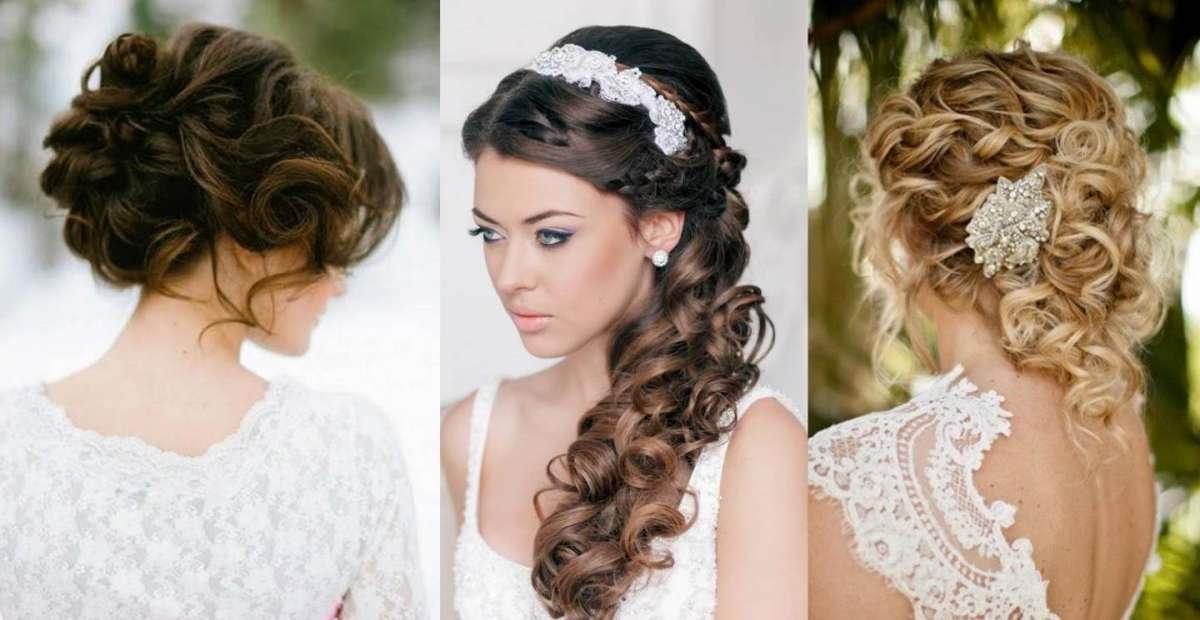 Trois exemples de coiffures de mariage élégantes avec des bijoux de cheveux longs
