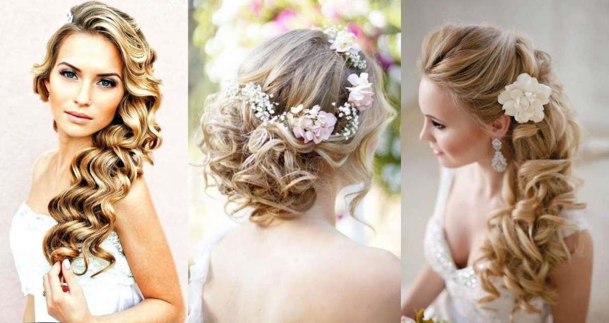 Trois exemples de cheveux de mariage élégants avec de longs cheveux blonds