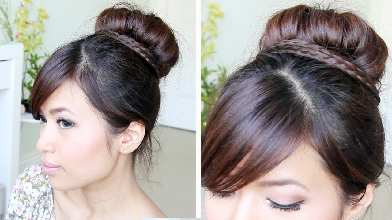 Deux exemples de coiffures bob élégantes et simples aux longs cheveux bruns