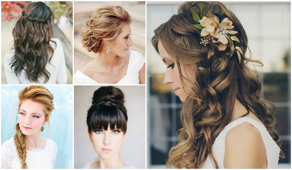 Cinq exemples de coiffures de mariage aux cheveux longs