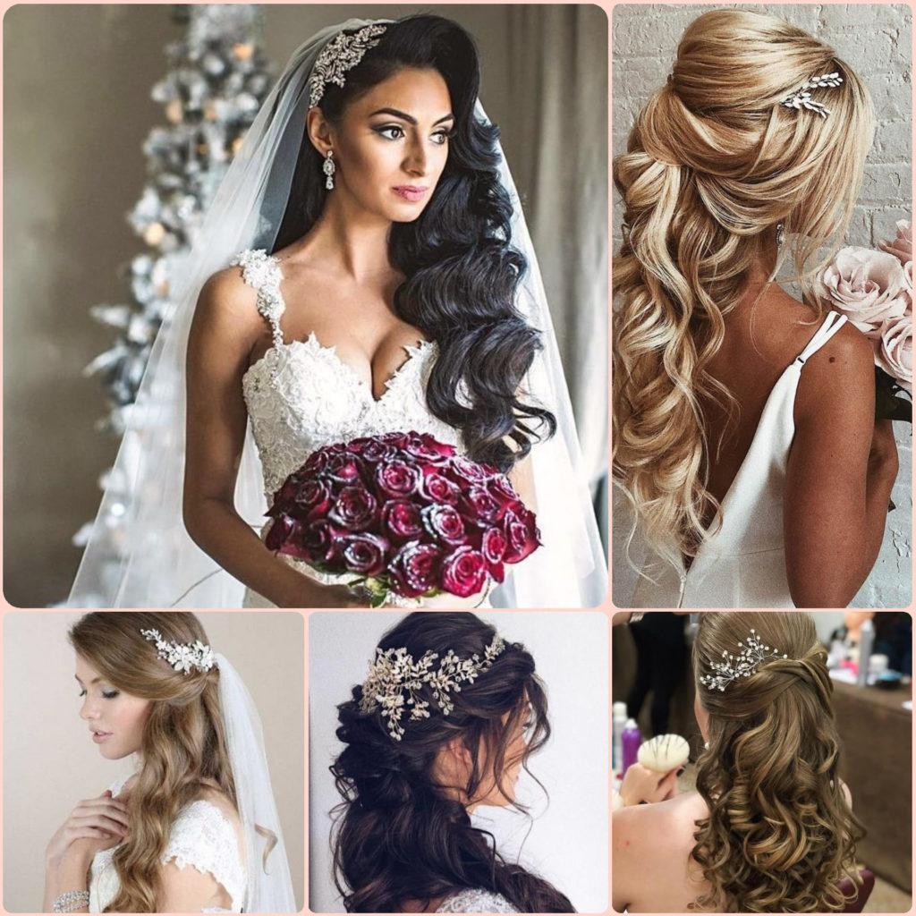Cinq exemples de coiffures de mariage élégantes à cheveux longs