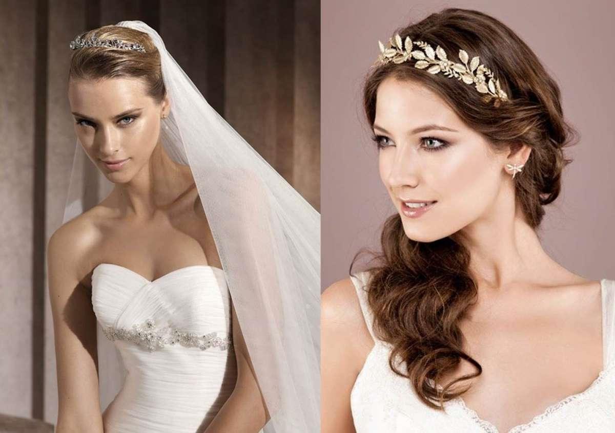 Une coiffure de mariage avec un bijou de cheveux longs