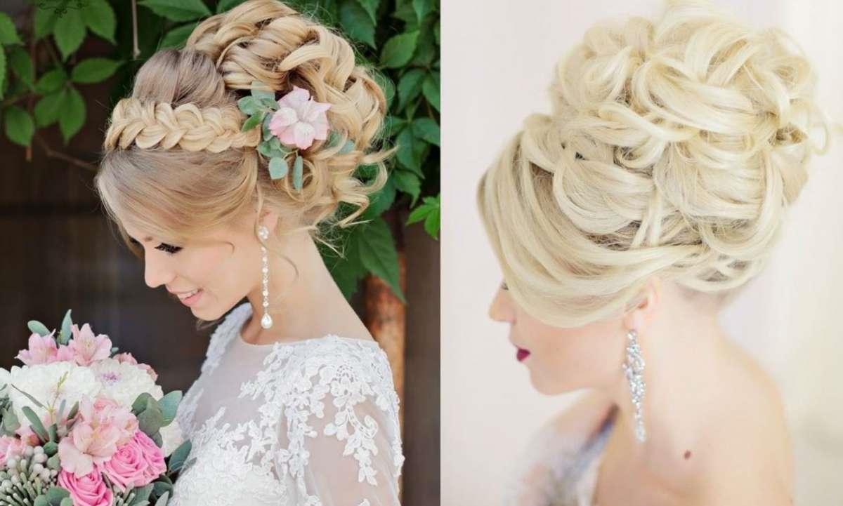 Une coiffure de mariage aux longs cheveux blonds