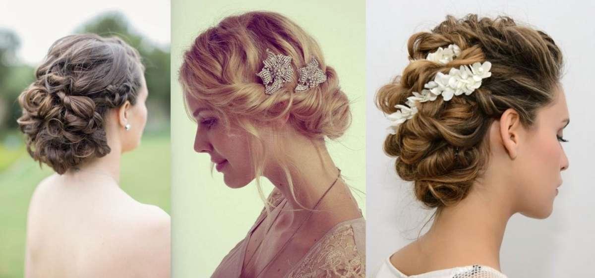 Une coiffure de mariage avec des fleurs de cheveux longs