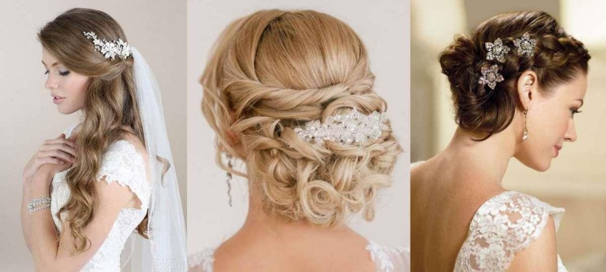 Une coiffure de mariage simple avec un chignon et un bijou de cheveux longs