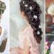 Un coiffure de mariage élégante cheveux longs
