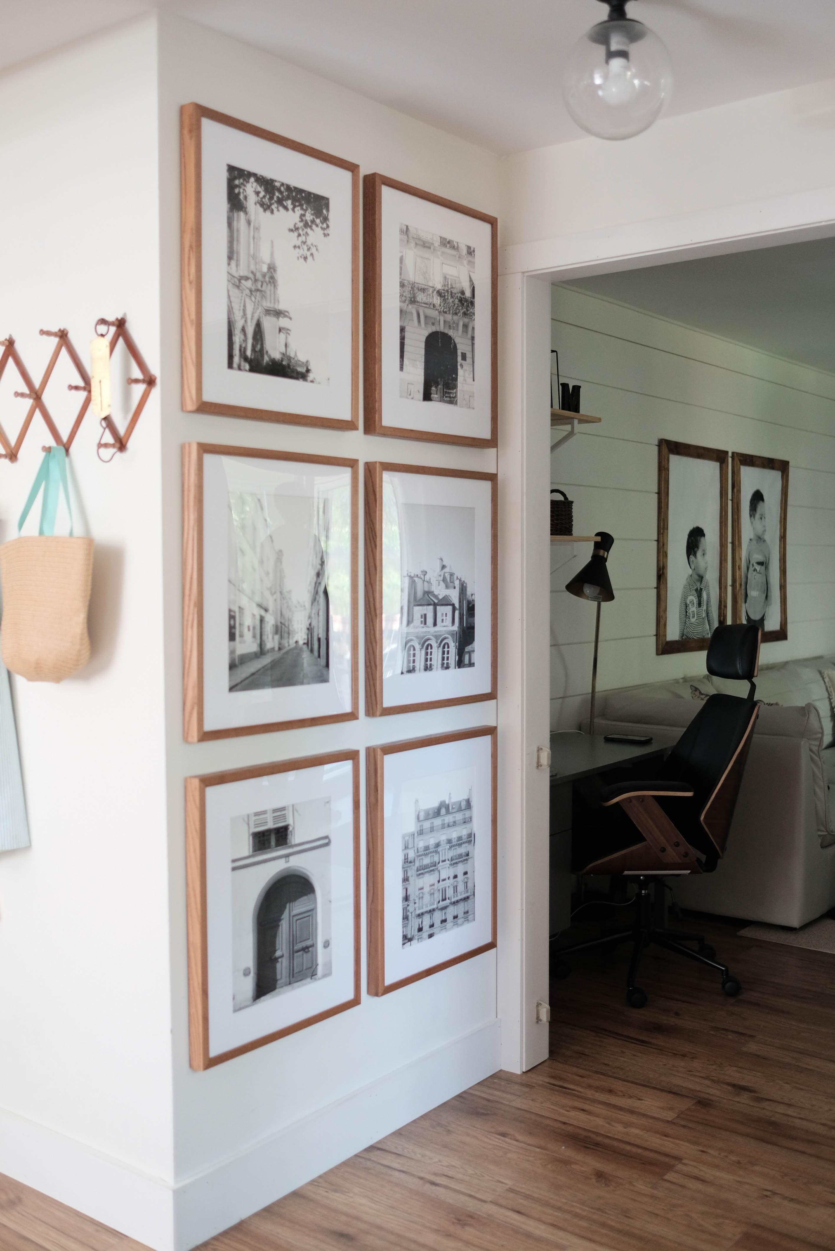 Une galerie sur le mur est toujours une bonne idée!