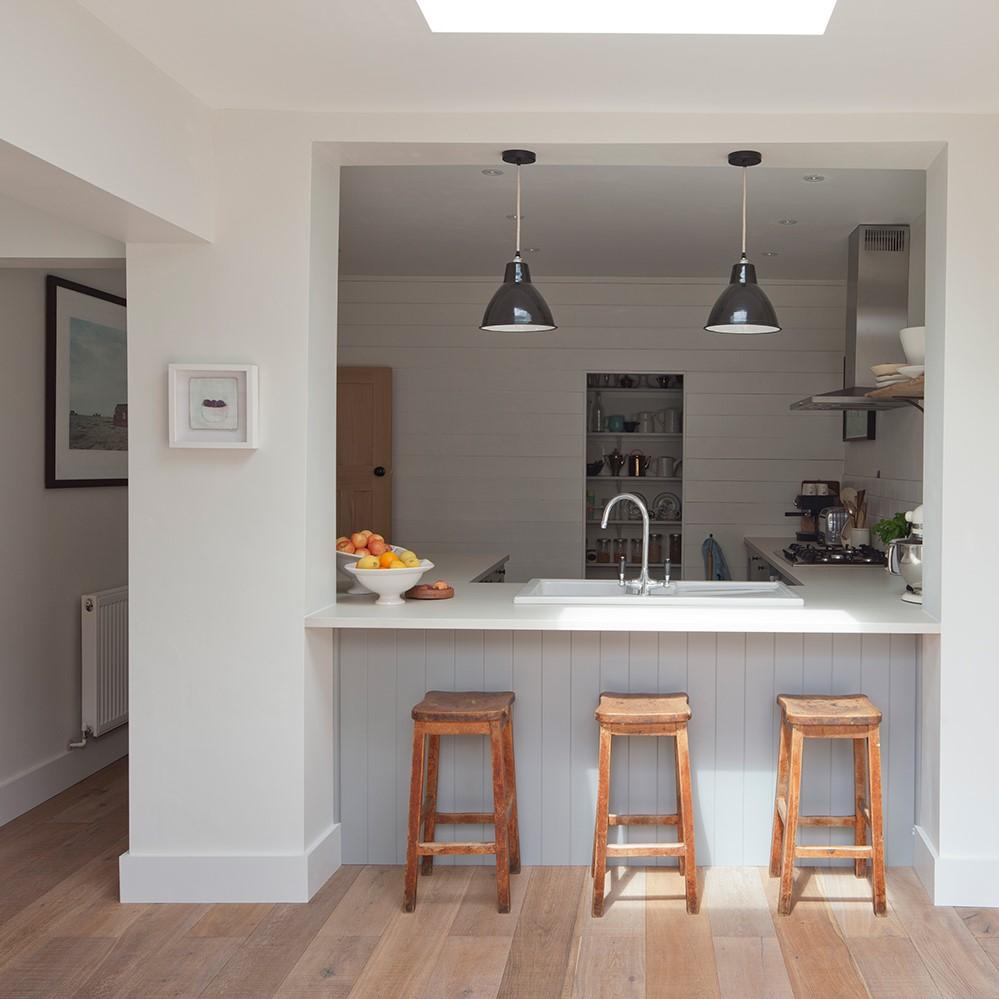 Mais c'est aussi un moyen d'améliorer l'espace d'une petite cuisine tout en préservant une certaine intimité.
