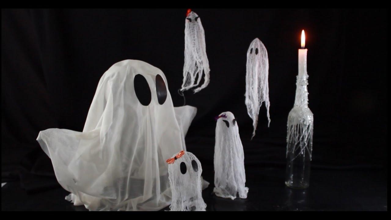 Fabriquer des fantômes flottants idée de bricolage pour l'Halloween