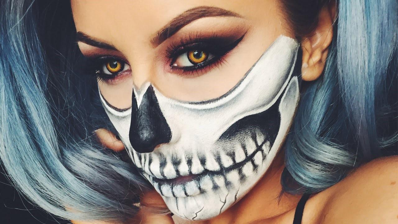 Vous pouvez trouver beaucoup de vidéos en ligne sur la création étape par étape du maquillage pour Halloween.