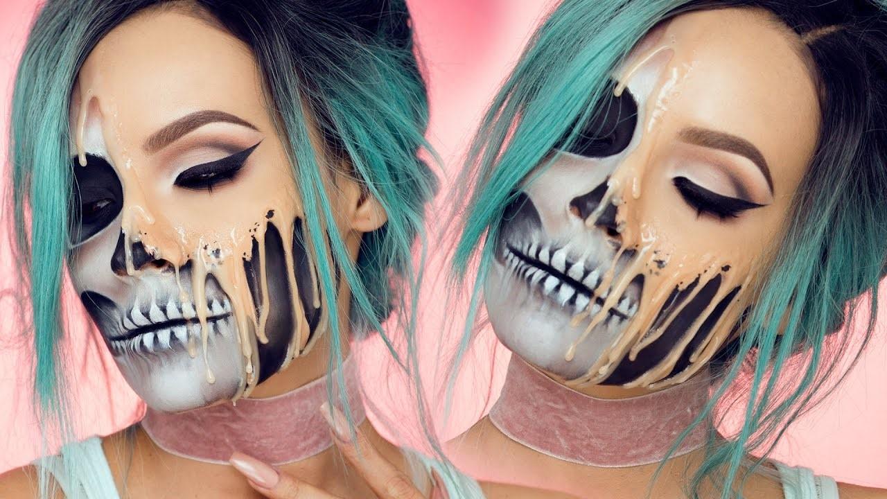Étape 7 du maquillage d'Halloween squelette : derniers détails.