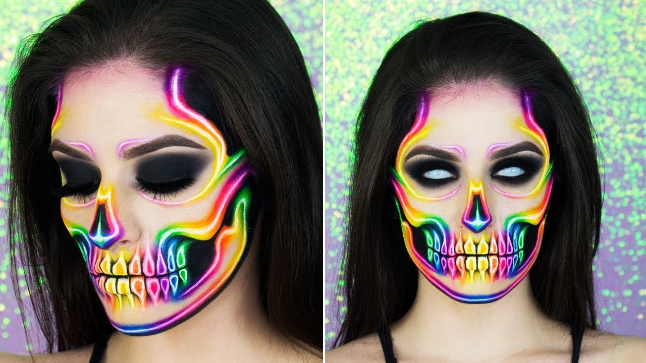Ou, vous pouvez faire ce maquillage avec des couleurs.