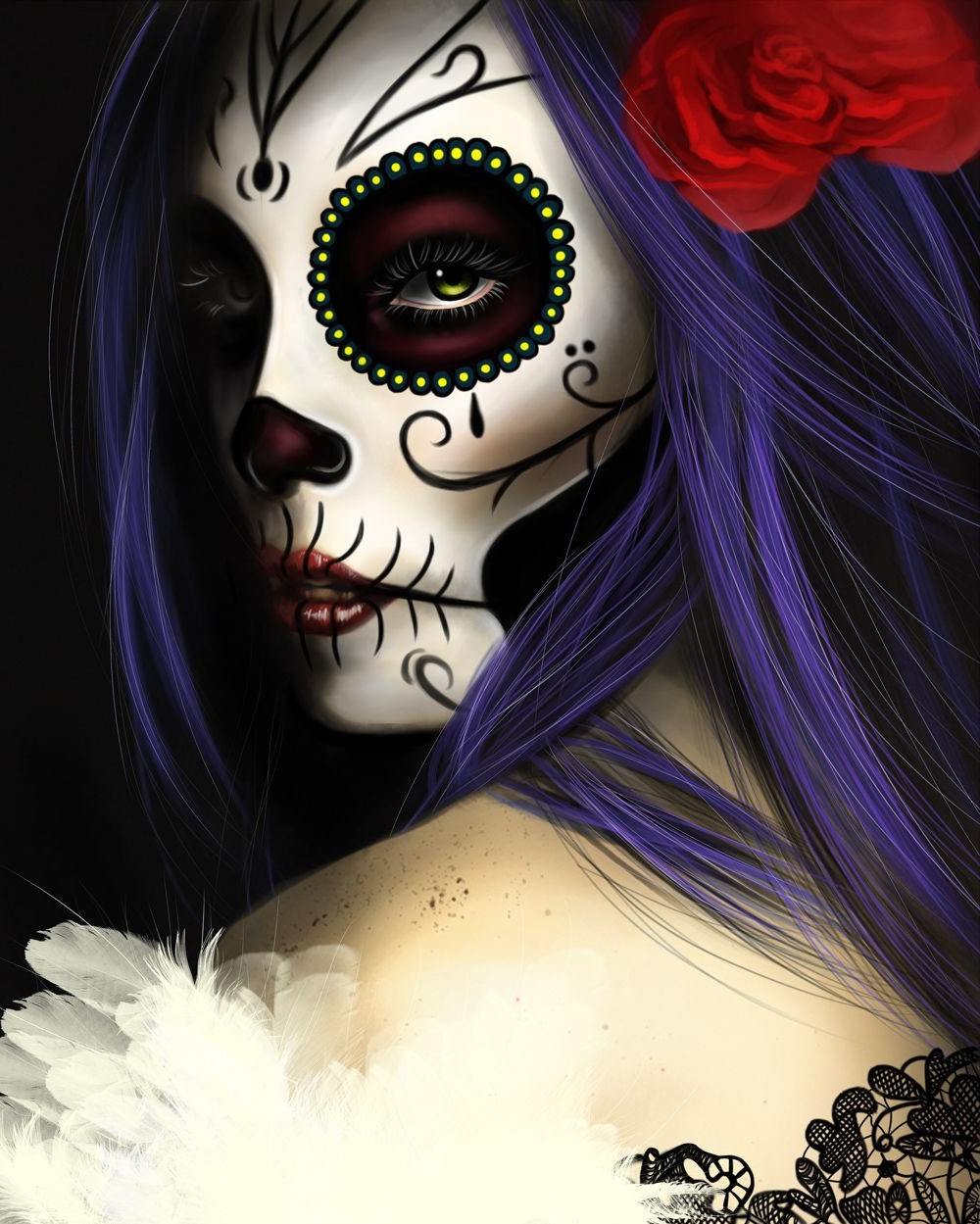 Makeup '' skull '': what exactly is Catrina?