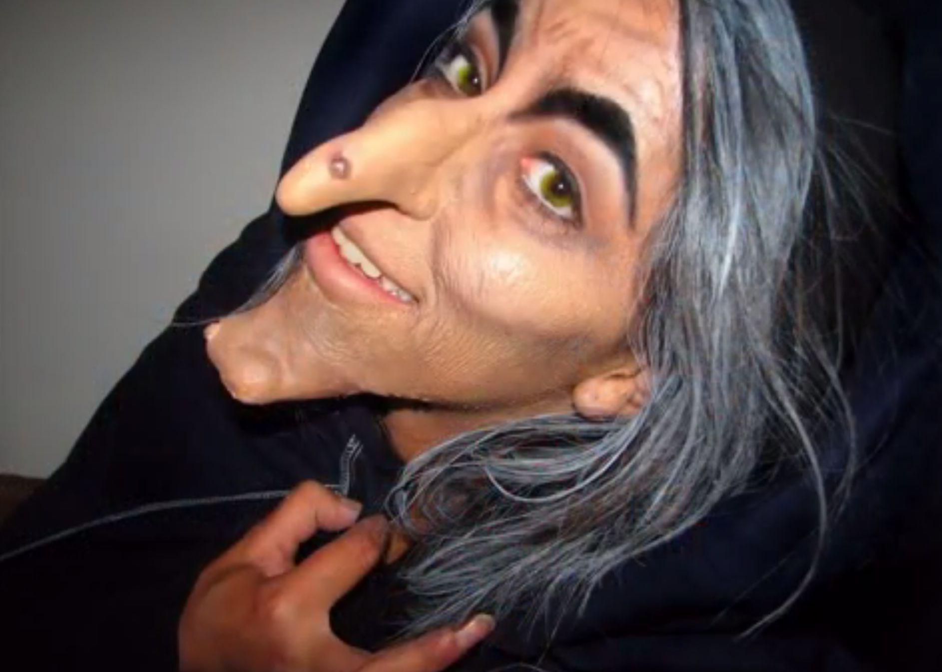 Mettez un nez et un menton artificiels et vous serez une vraie sorcière