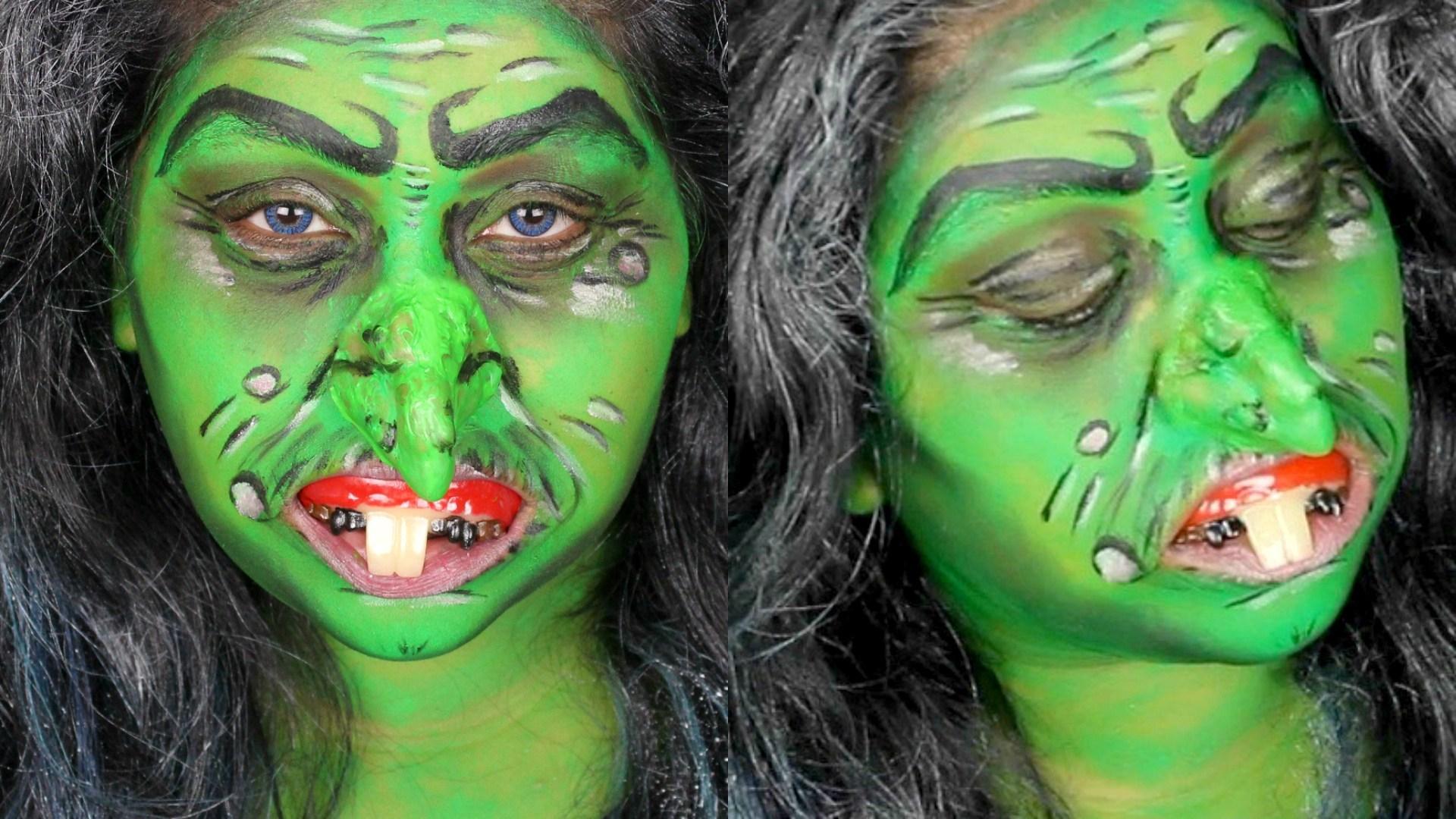 Si vous voulez être une sorcière très laide c'est votre maquillage