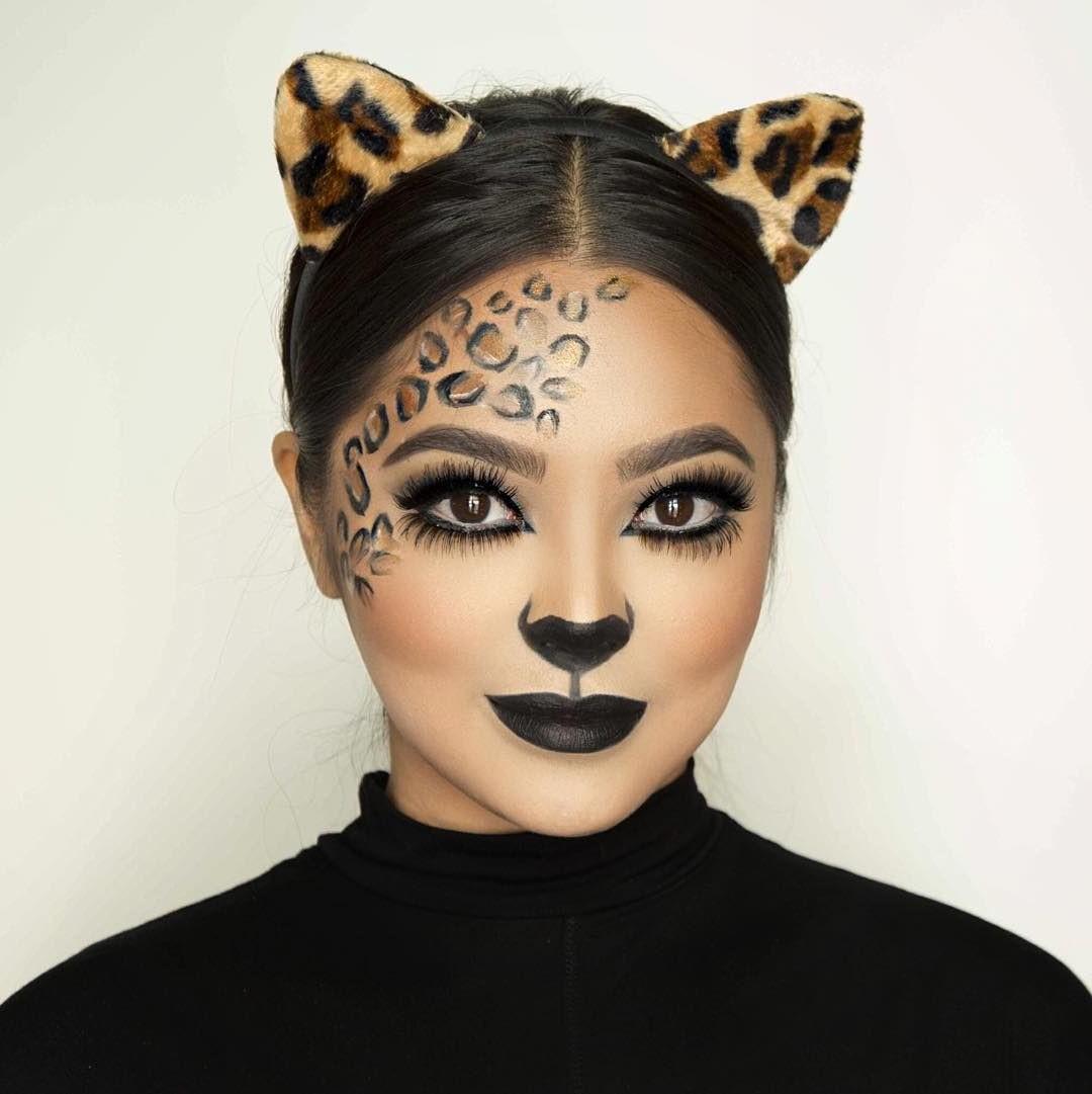 Le meilleur tuto de maquillage d'Halloween léopard.