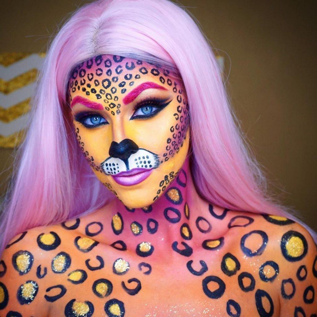 Si vous souhaitez investir dans du maquillage coloré, essayez cette interprétation différente du léopard!