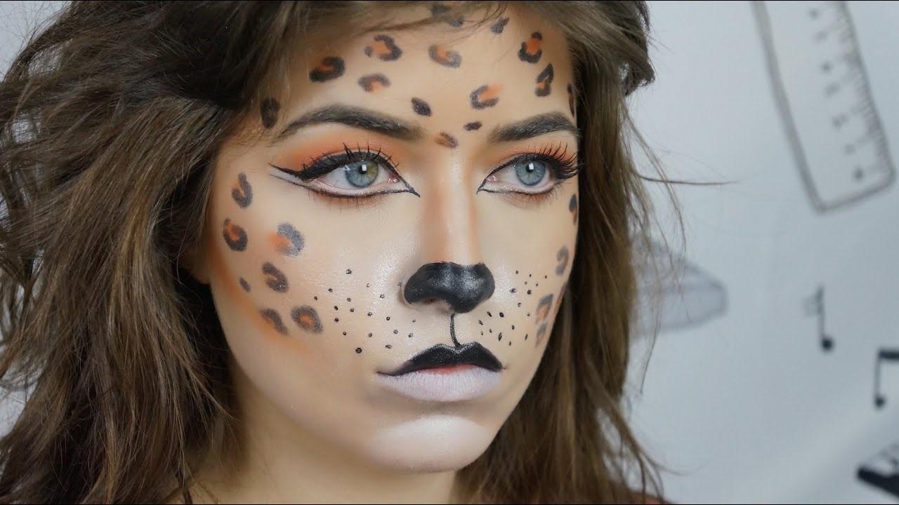 Avec ce tuto de maquillage d'Halloween vous allez devenir un vrai léopard.