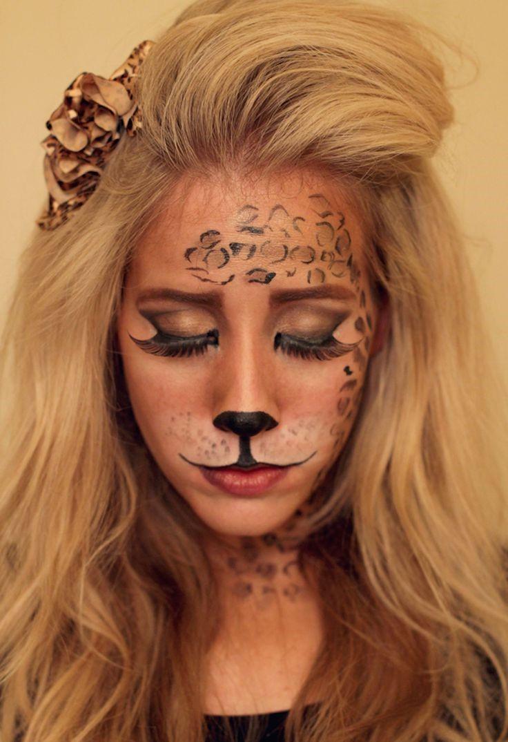 Tuto de maquillage d'Halloween léopard.