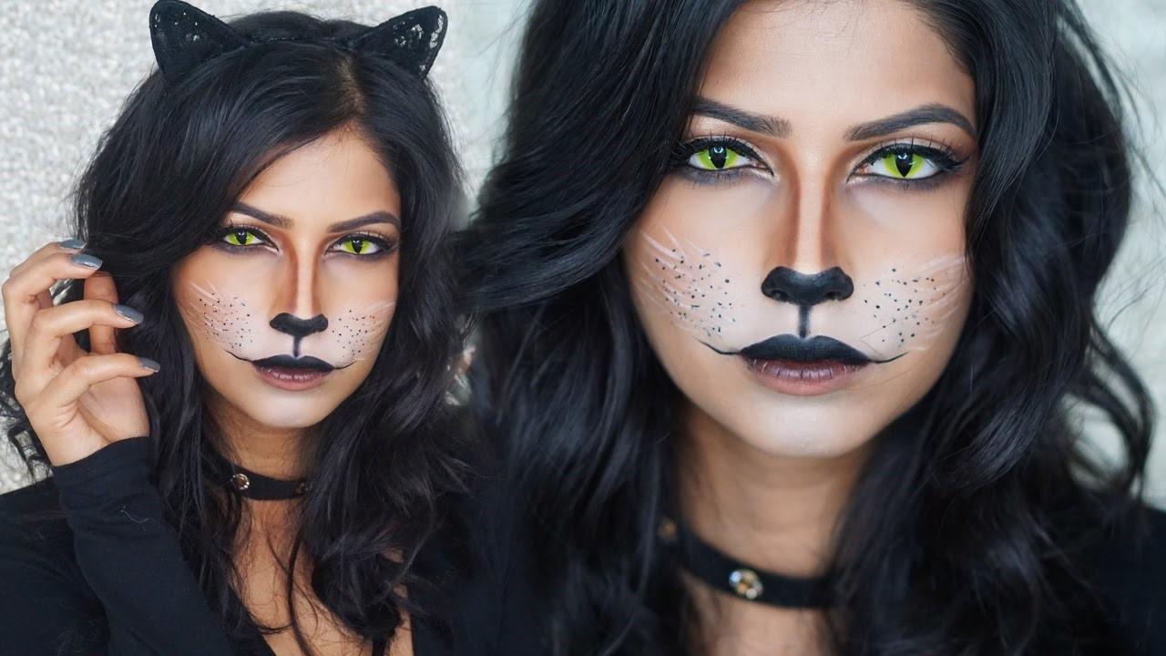 Si vous préférez, vous pouvez utiliser les mêmes étapes pour créer un maquillage de chat noir.